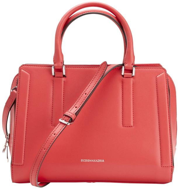 Item - New Violet Triple Entry Re Red Leather Satchel