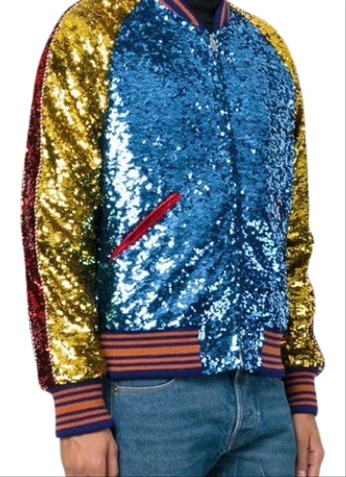 5220eee17 Gucci Multicolor Men s Sequin Bomber Jacket Size OS (one size) - Tradesy