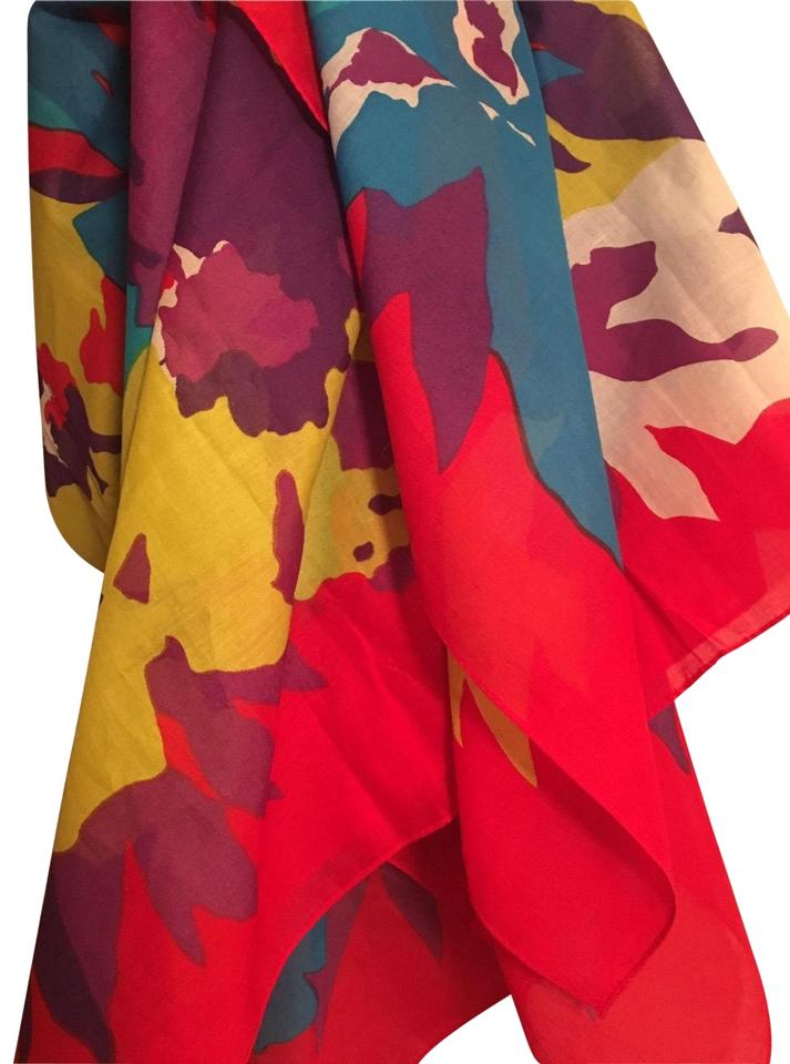 db075dc3 Neiman Marcus Multi Brights Designer Made In Italy Scarf/Wrap 57% off retail
