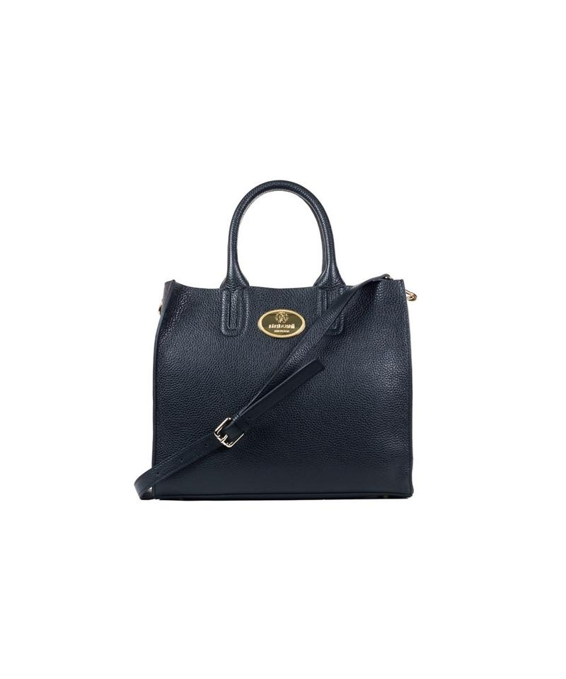 bc7a75fb3 Roberto Cavalli Bag Structured Grainy Calf A420-ab Black Leather Tote