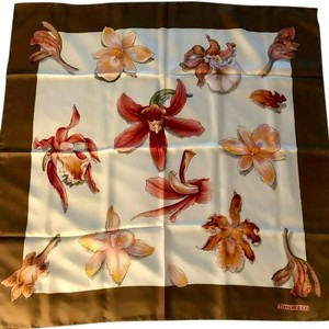 """Tiffany & Co. Hand Rolled Floral Silk Scarf 34"""" Square NEW w/Packaging"""