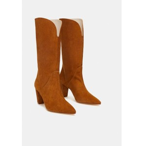 c0263b31eb8 Brown Zara Boots   Booties - Up to 90% off at Tradesy
