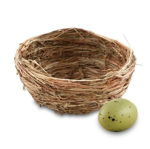Natural Brown Mini Bird Nests - 80 Nests Wedding Favors