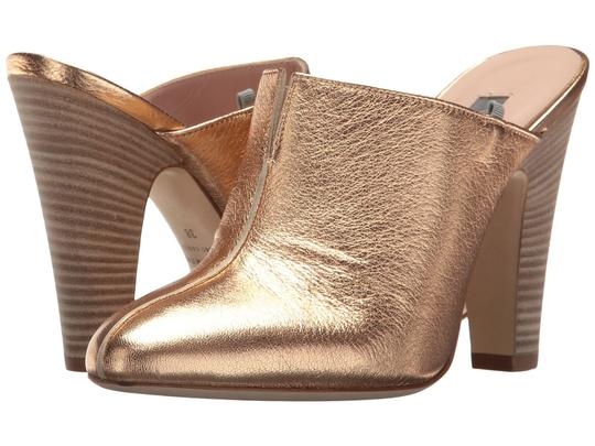SJP by Sarah Jessica Parker Bootie Leather Rose Gold Metallic Mules