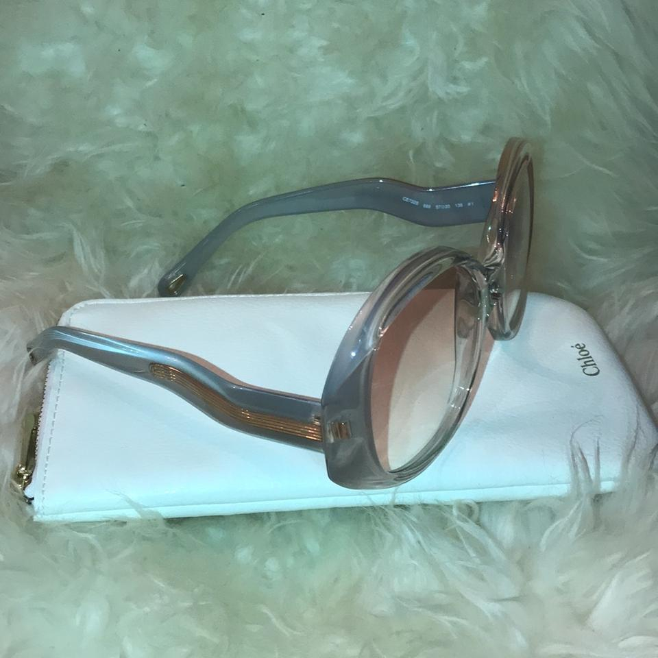 f3992645a5ce Chloé Peach Grey and Clear Gradient Ce732s 689 Sunglasses - Tradesy