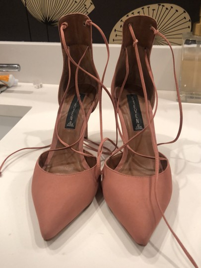 Steven by Steve Madden Strappy Sandals Blush pink Suede Pumps Image 1