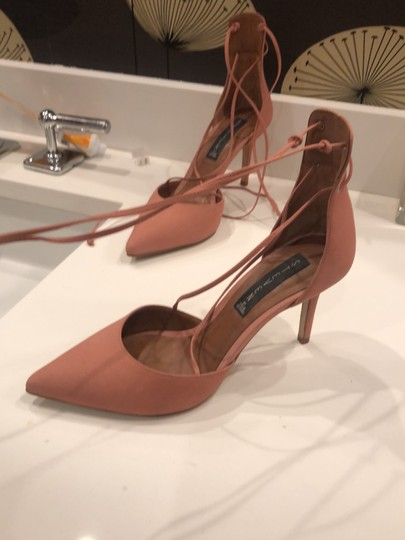 Steven by Steve Madden Strappy Sandals Blush pink Suede Pumps Image 2