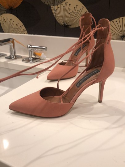 Steven by Steve Madden Strappy Sandals Blush pink Suede Pumps Image 3