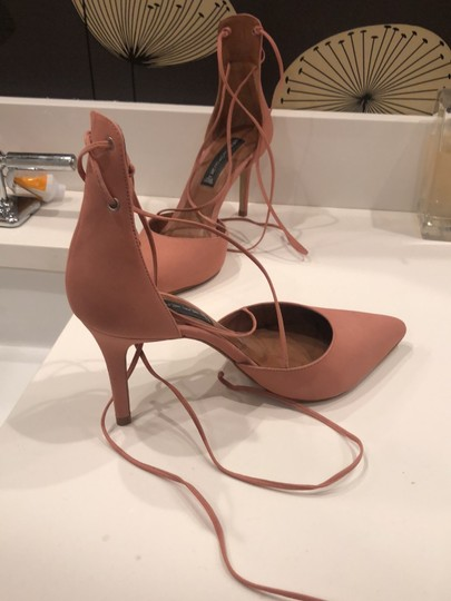 Steven by Steve Madden Strappy Sandals Blush pink Suede Pumps Image 6