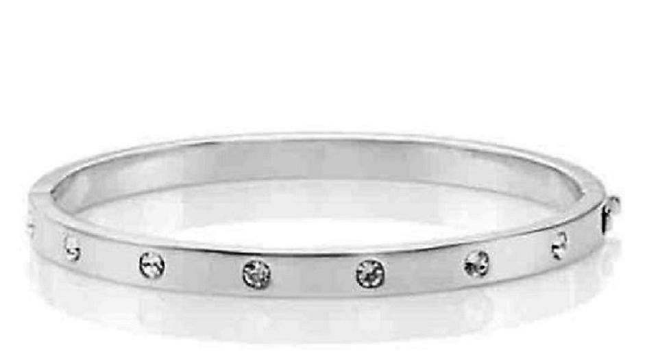 Kate Spade Silver New York Set In Stone Hinged Bangle