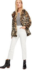 Free People Faux Animal Print Leopard Cheetah Oversized Fur Coat