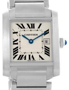 Cartier Cartier Tank Francaise Midsize Silver Dial Ladies Watch W51011Q3 Box