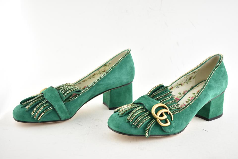 fafb1a266ac Gucci Loafer Mule Slide Flat Marmont green Pumps Image 11. 123456789101112