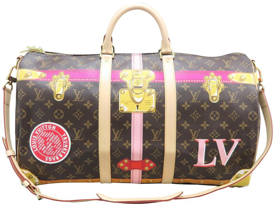 ce210f7507b4 Louis Vuitton Lv Keepall Bandouliere Su. Trunk Monogram Satchel in brown  Image 0 ...