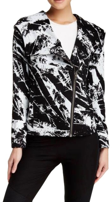 Item - Black and White Tera Hooded Jacket Size 4 (S)