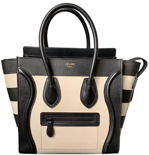 Preload https://img-static.tradesy.com/item/24965317/celine-luggage-micro-with-striped-wings-black-cream-calfskin-leather-tote-0-6-540-540.jpg