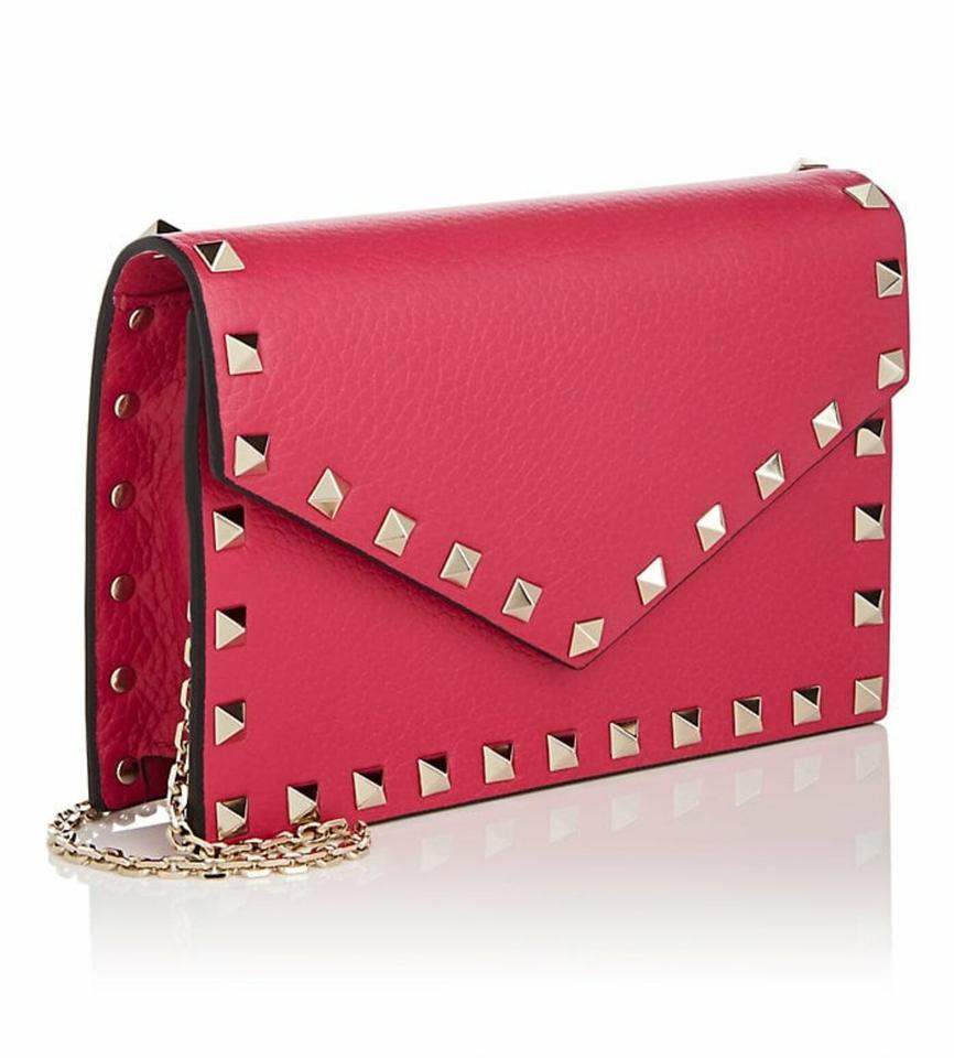 89d00e8b3a2df Valentino Rockstud Envelope Woc Clutch Chain Wallet Cross Body Bag Image 0  ...