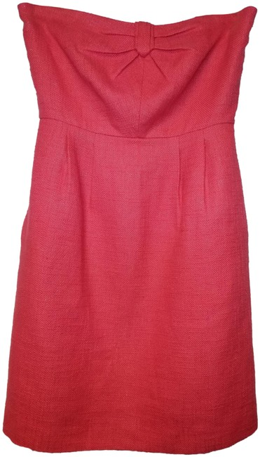 Item - Coral Bow Mid-length Cocktail Dress Size 2 (XS)