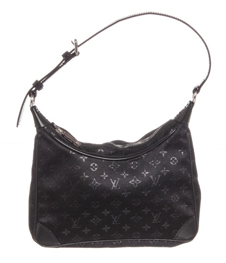 Louis Vuitton Boulogne Monogram Mini Black Satin and Leather Shoulder Bag 2beaca3c9565b