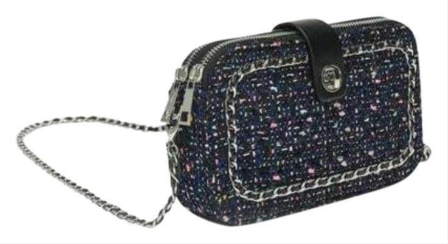 Item - Shiny Tweed Purse Chain Multi-color Polyester Cross Body Bag