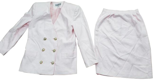 Item - Pink Collection Checkered 2 Pc Set - Skirt Suit Size 10 (M)