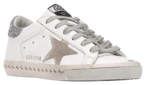 Golden Goose Deluxe Brand Sneakers Swarovski Embellished Leather white Athletic