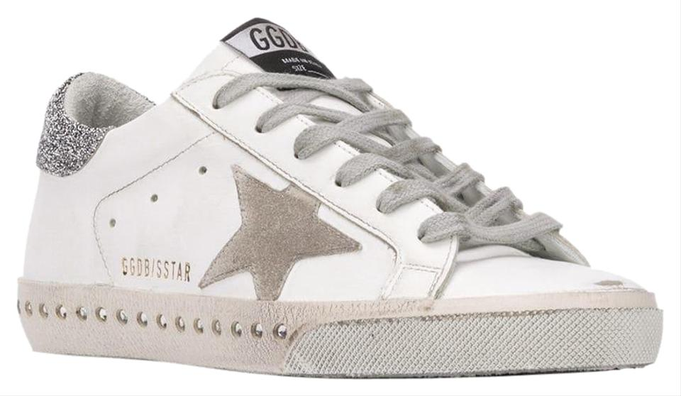 2cd73a5e30ff Golden Goose Deluxe Brand White Swarovski Crystal Superstar Sneakers  Sneakers