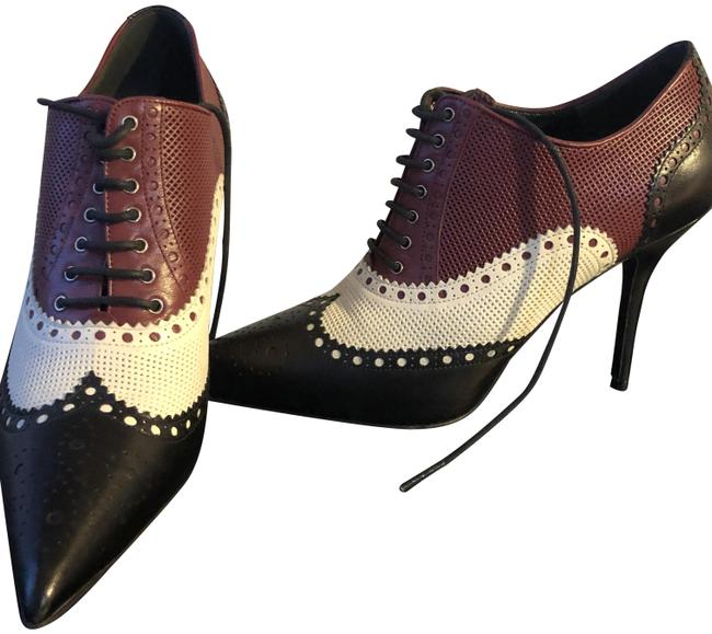 Item - Multi-color Leather Gia Wingtip Boots/Booties Size EU 38 (Approx. US 8) Regular (M, B)