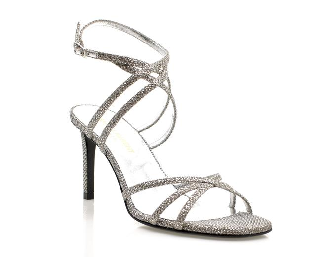 Item - Silver Monogram Kate Astra Diamond Sandals Size EU 36 (Approx. US 6) Regular (M, B)
