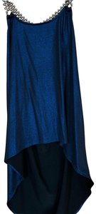Body Central Beads Shiny Hi-low Racer-back Tunic