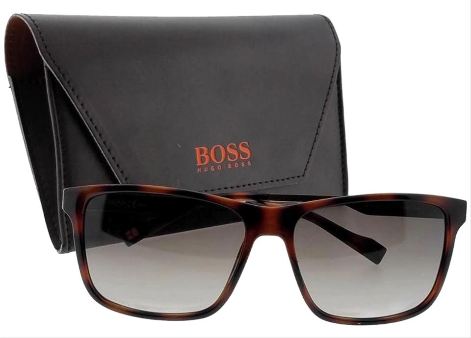 56d9fa5d47 Hugo Boss Bo0163-s-8xl-ha-58 Rectangle Men s Havana Frame Brown Lens ...