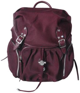 807f07dc5a1a MZ Wallace Exterior Pockets Interior Pockets Protective Feet Leather Trim  Adjustable Strap Backpack