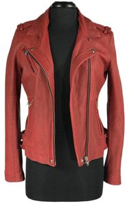 IRO Han red Leather Jacket