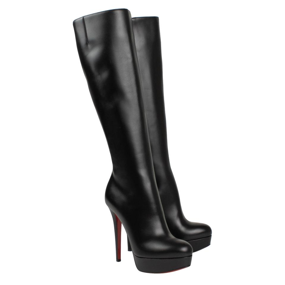 3ddca3024b3 Christian Louboutin Black Leather Bianca Botta 140mm Pumps Boots/Booties  Size EU 37 (Approx. US 7) Regular (M, B) 35% off retail
