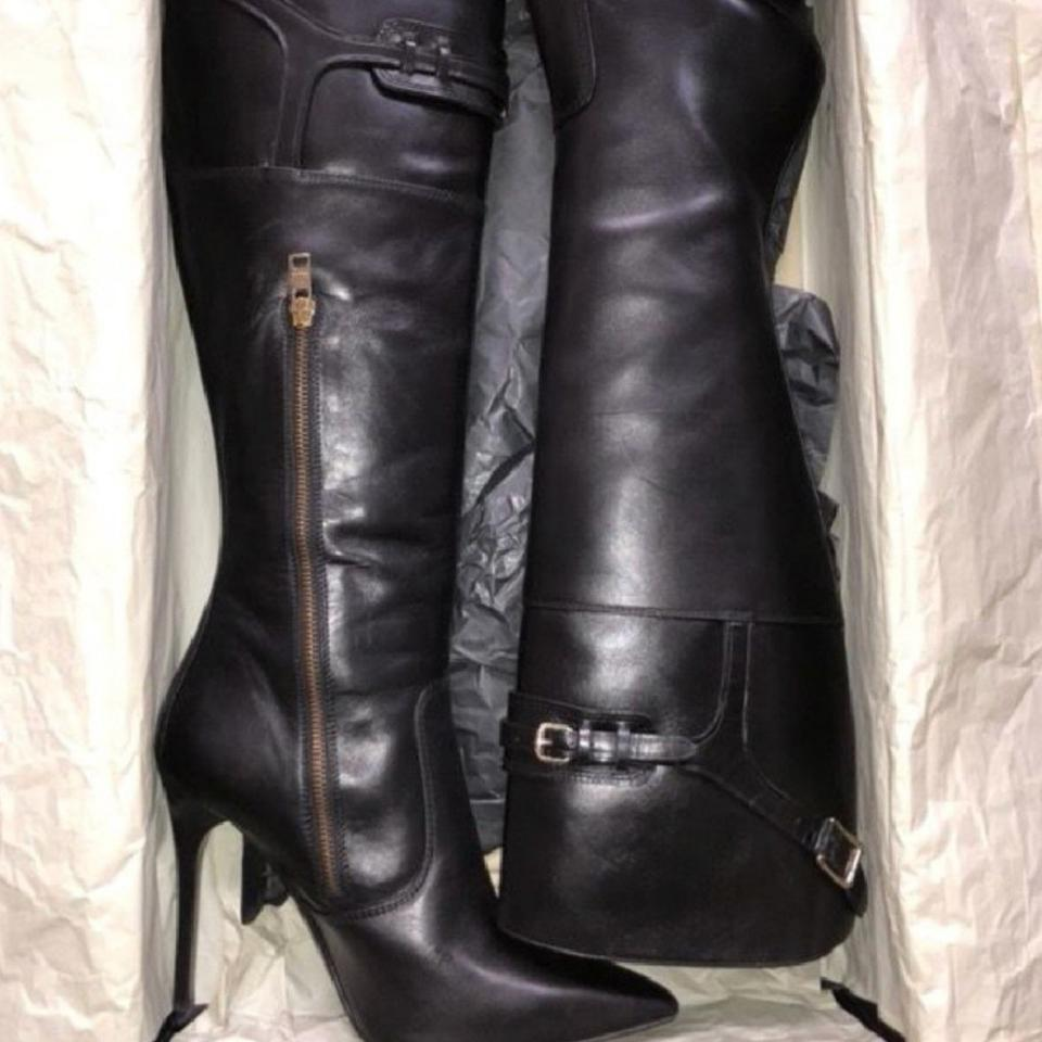 8258c38dc2a Burberry Black Over The Knee Boots Booties Size US 9 Regular (M