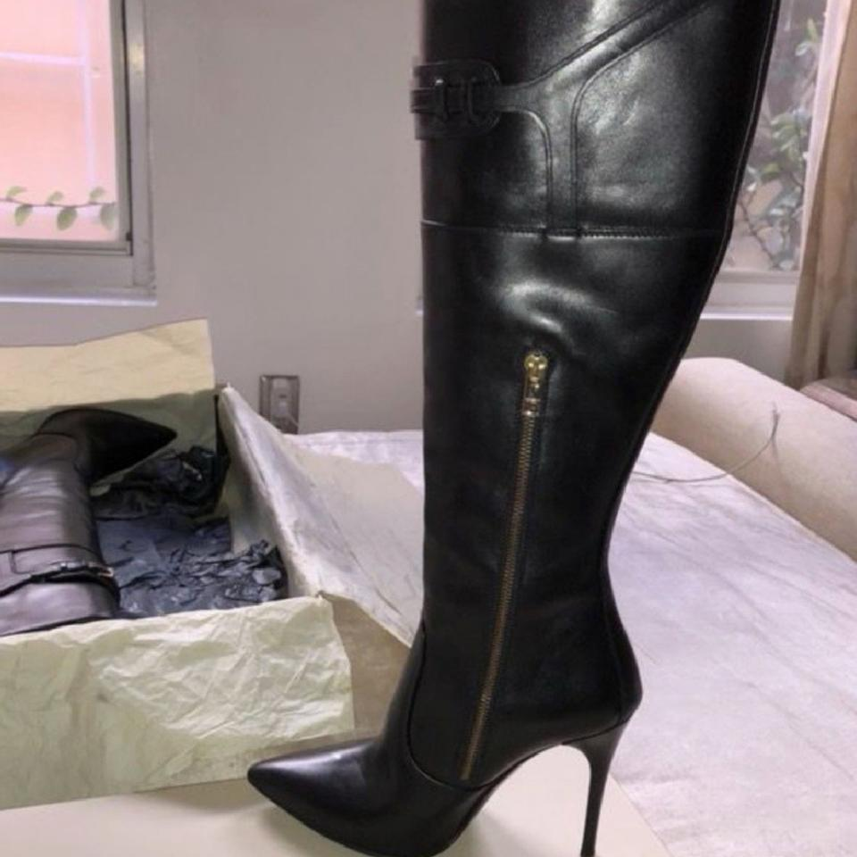 8bf33567f62 Burberry Black Over The Knee Boots Booties Size US 9 Regular (M