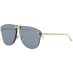 85977be09e Gucci New Gucci Rimless GG0354S 003 Gold Metal Aviator Sunglasses with Blue