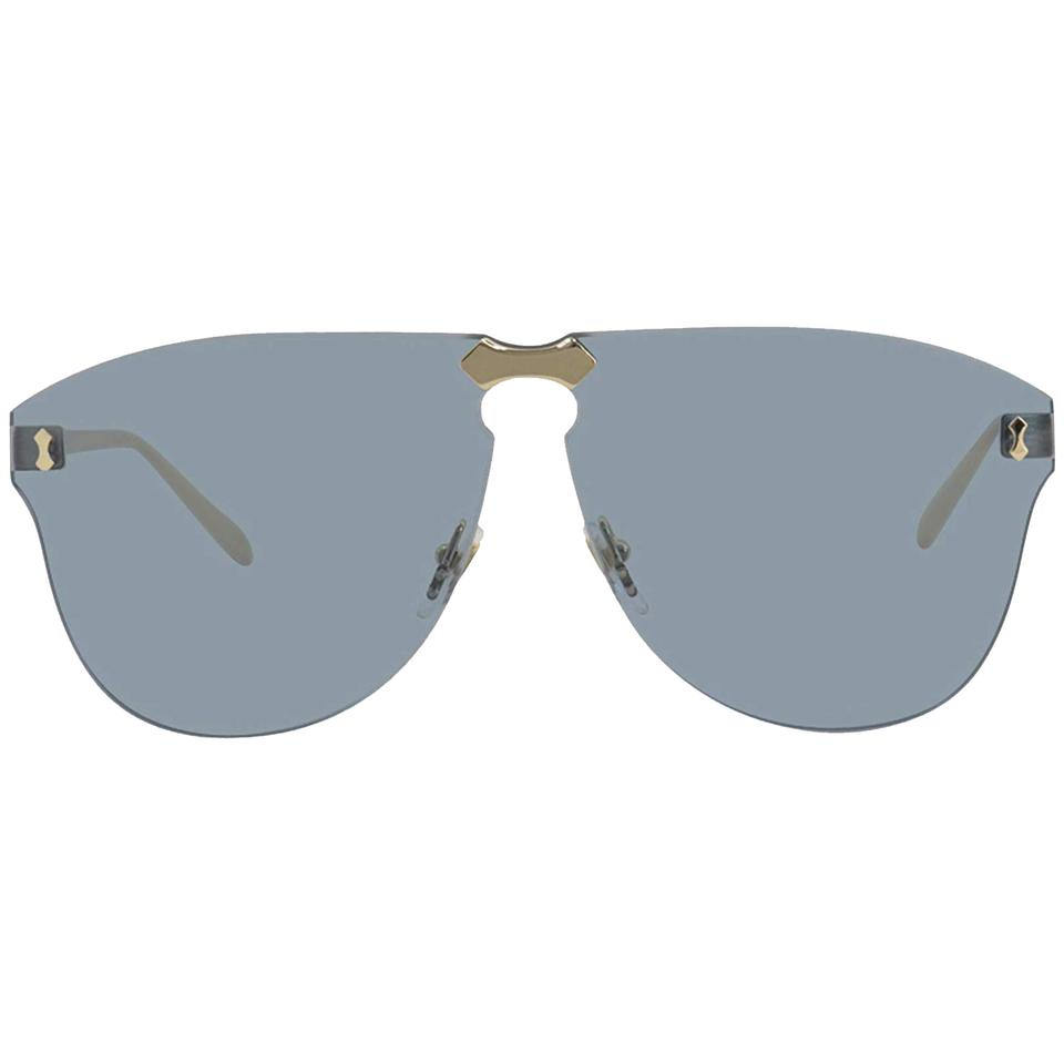 86abcdfcc61 Gucci New Gucci Rimless GG0354S 003 Gold Metal Aviator Sunglasses with Blue  Image 3. 1234