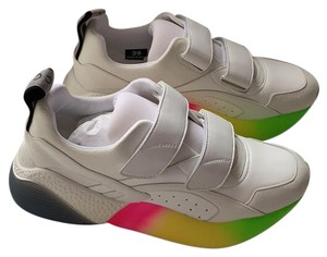 Stella McCartney Pristine Condition New Tags Out Color Rare Find White With Neon Green, Pink & Yellow Sole Athletic