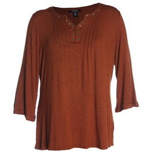 Style & Co 2x Plus Size Brown T Shirt Rich Auburn