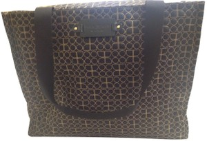 Kate Spade Black with beige top stitching Diaper Bag