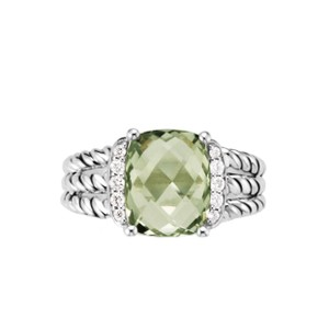 David Yurman Petite Wheaton Prasiolite & Diamonds