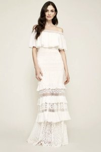 ce4cf31b9f1a Tadashi Shoji Ivory Polyester Lace Bridal Alexia Off The Shoulder Gown  Traditional Wedding Dress Size