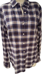 Trovata Button Down Shirt Plaid blue/white/red