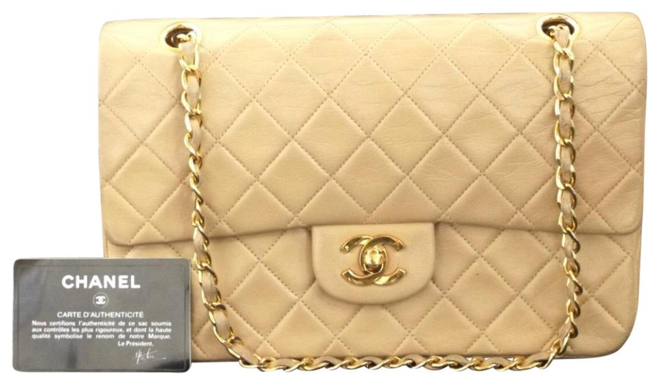 bf37f715ccee Chanel Classic Flap 2.55 Reissue Beige Lambskin Leather Shoulder Bag ...