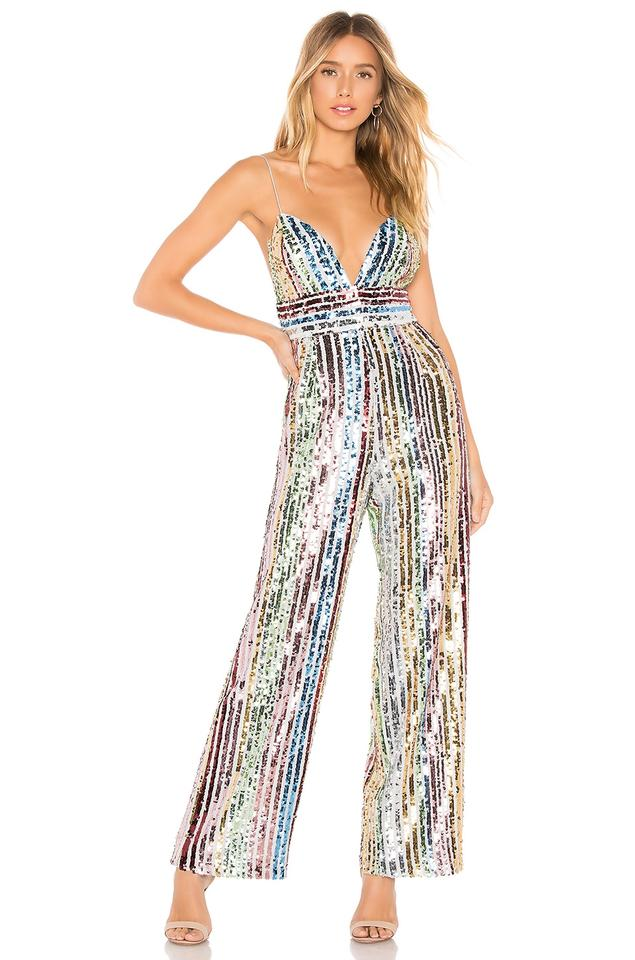 best supplier differently buy real SAYLOR Multicolor Jojo Sequin Romper/Jumpsuit 21% off retail