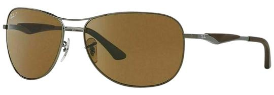739eb89257 Ray-Ban Gunmetal Matte Brown Frame   Brown Classic B-15 Polarized Lens Rb3519  006 9a Pilot Style Unisex Sunglasses
