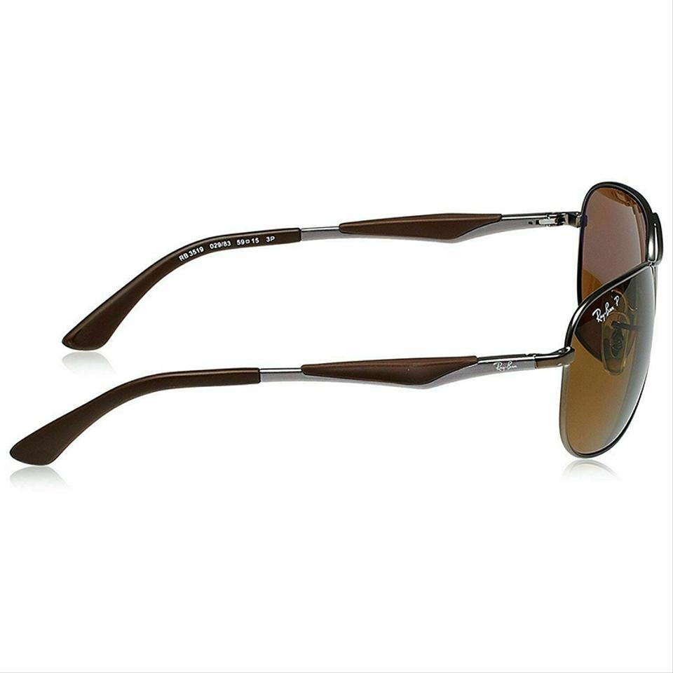 043836a915 Ray-Ban Gunmetal Matte Brown Frame   Brown Classic B-15 Polarized ...