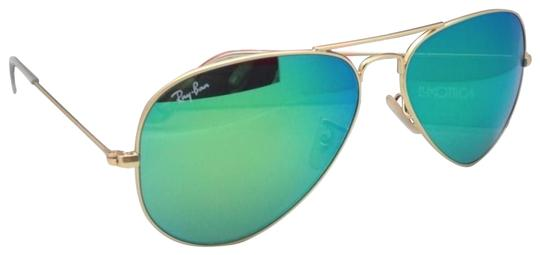 Ray-Ban Rb 3025 Large Metal 112 19 58-14 Matte Gold  Green Mirror ... be1a7710cde