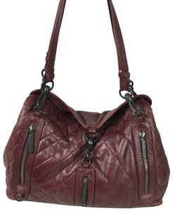 266f58a369ea Francesco Biasia Leather Satchel in Maroon